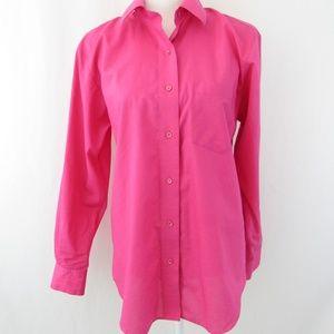 Button Down Shirt Wrinkle Free Cotton Blend